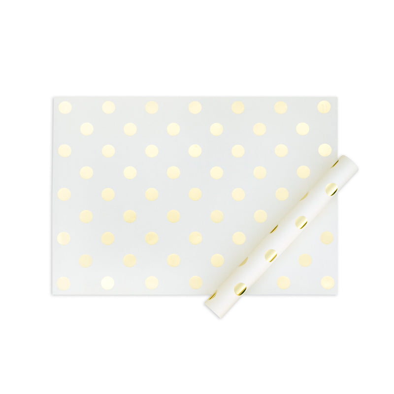 My minds eye paper goods SHEET OF WRAP-cream with gold dots