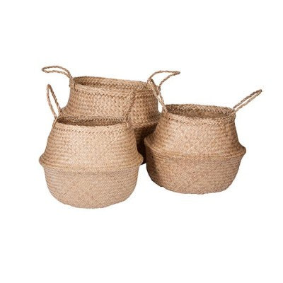 Mediterranean Markets-Collapsible Basket NATURAL medium