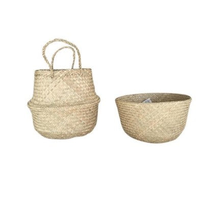 Mediterranean Markets-Collapsible Basket NATURAL small