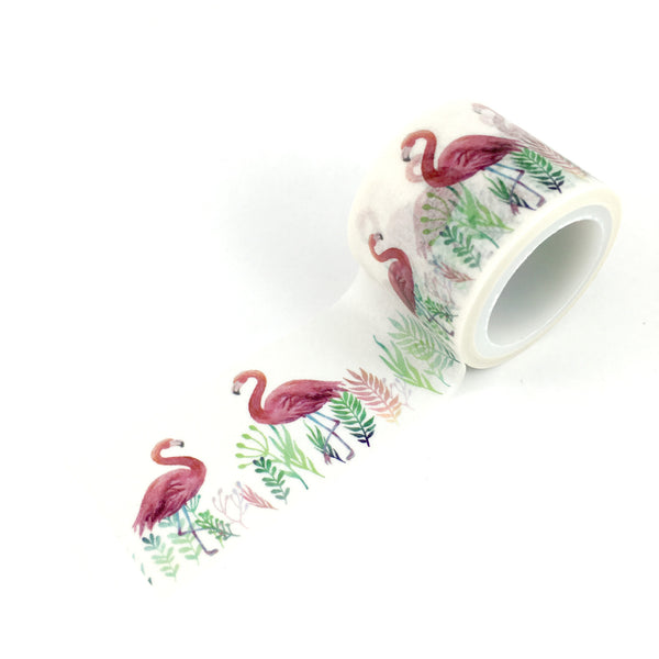 Washi Tape- Watercolour Flamingo wide