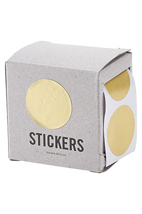 HOUSE DOCTOR Paper Sticker-Gold circle roll of 60
