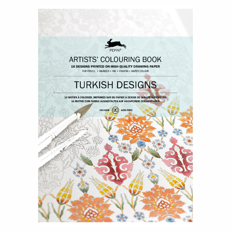 PEPIN Artist' Colouring Book- Turkish Designs