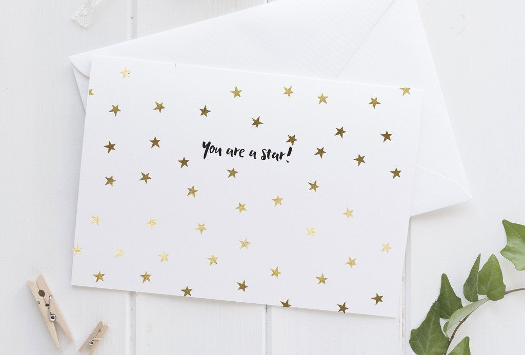 PENNEDBLACK Greeting Card - You are a star