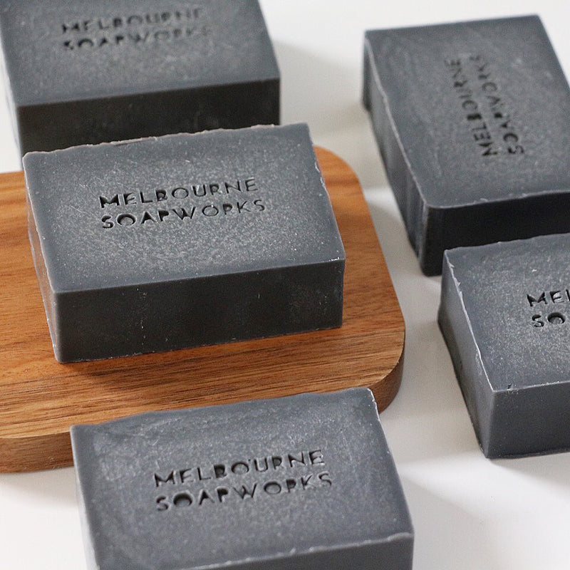 MELBOURNE SOAPWORKS- May Chang + Pink Grapefruit with Activated Charcoal