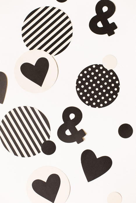 My Minds Eye Paper Goods BLACK & WHITE CONFETTI