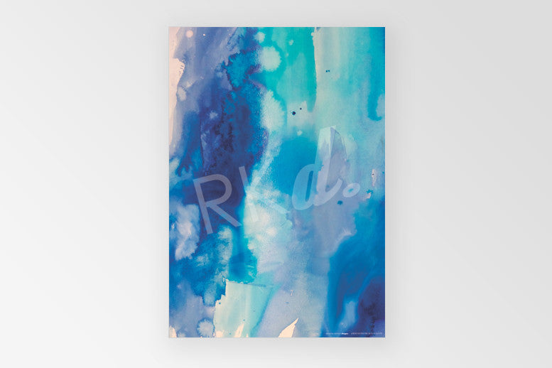 Rachel Kennedy Designs Blue watercolour 100% recycled gift wrap