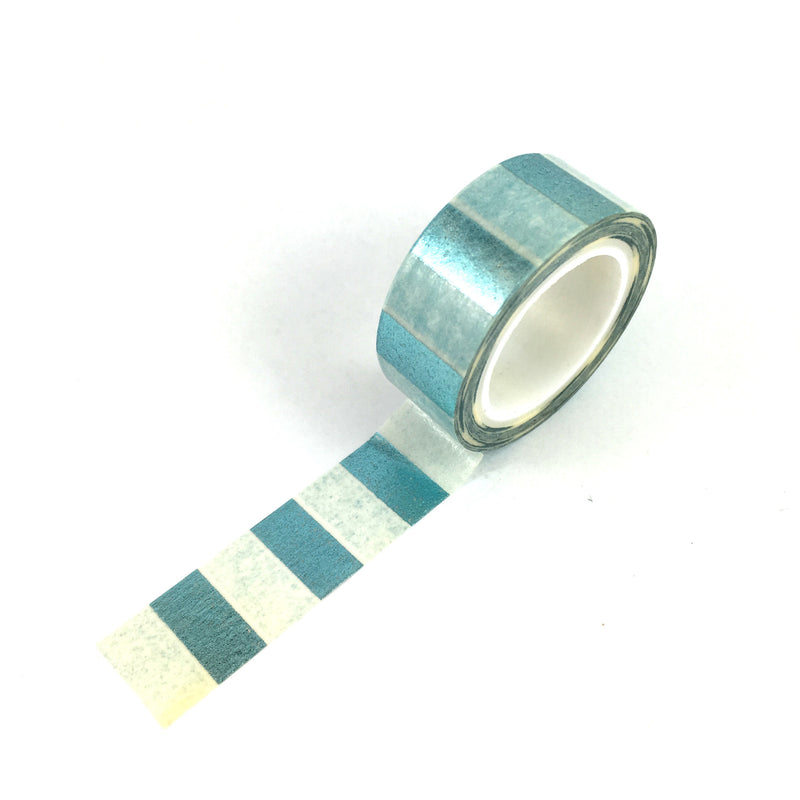Washi Tape-Blue FOIL stripe