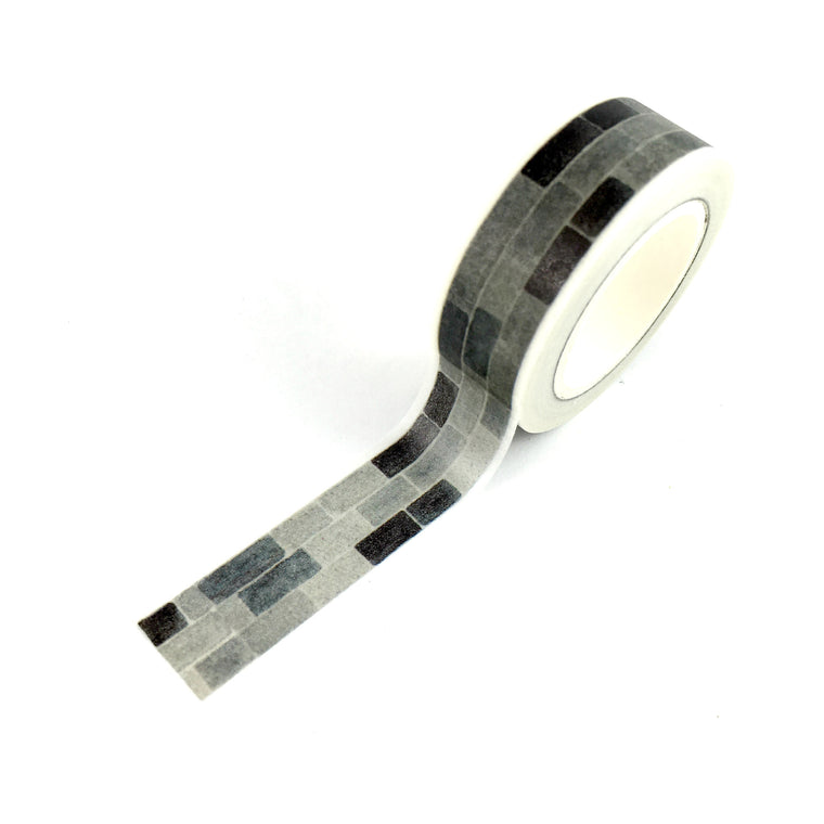 Washi Tape- Brick Black