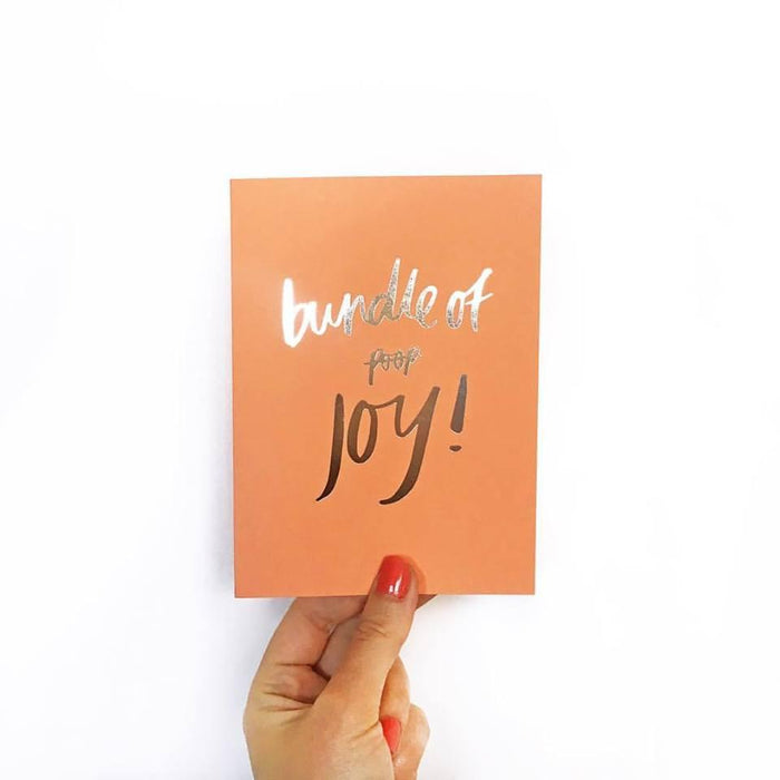 Blushing confetti- Bundle of Poop/joy Greeting Card