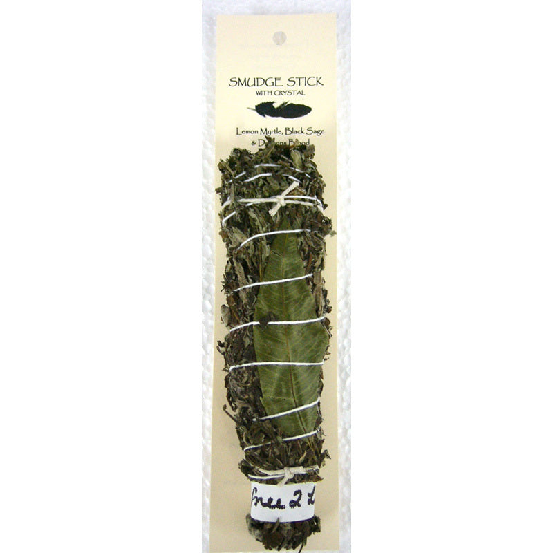 Crystal Magic Smudge stick-LEMON MYRTLE BLACK SAGE