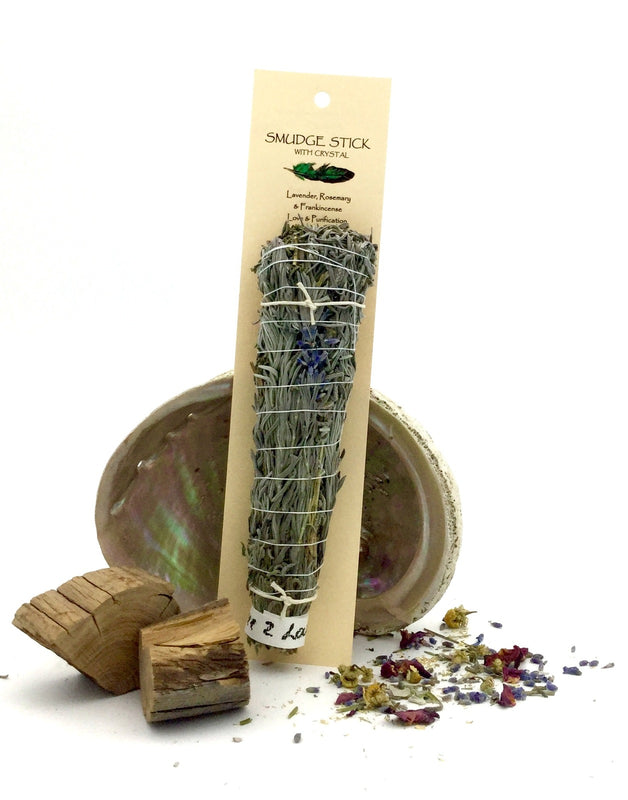 Crystal Magic Smudge stick-LAVENDER ROSEMARY AND FRANKINCENSE