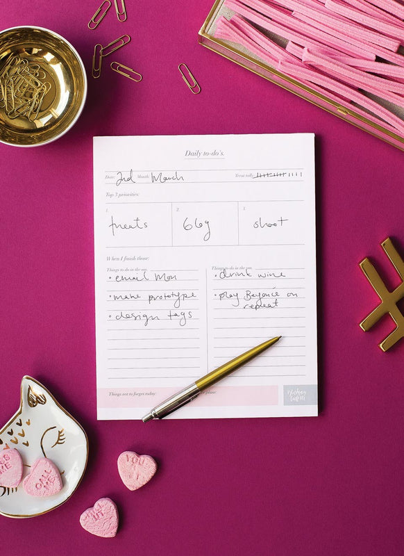 Blushing Confetti 'Daily To Do's' Daily Planner