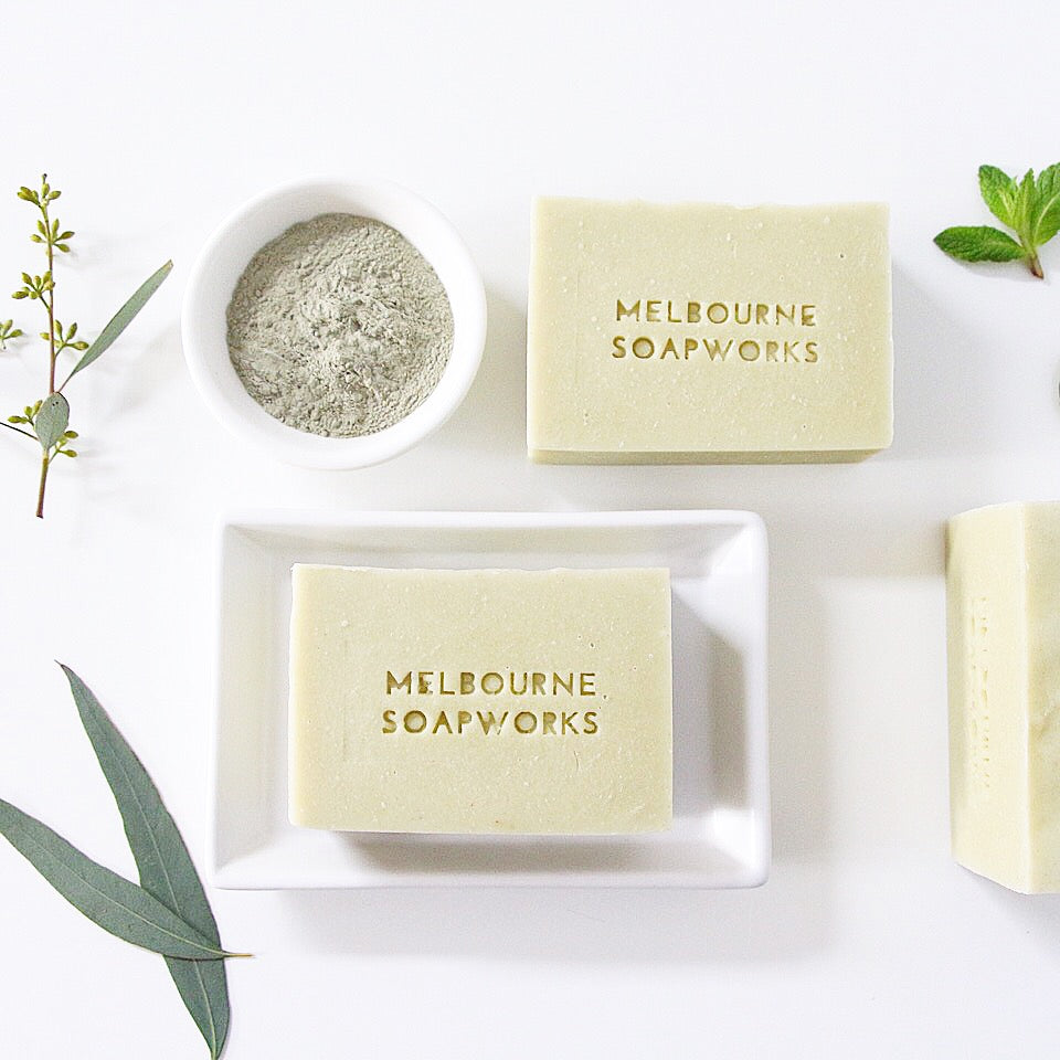 MELBOURNE SOAPWORKS- Australian Eucalyptus+ Peppermint with French Green Clay