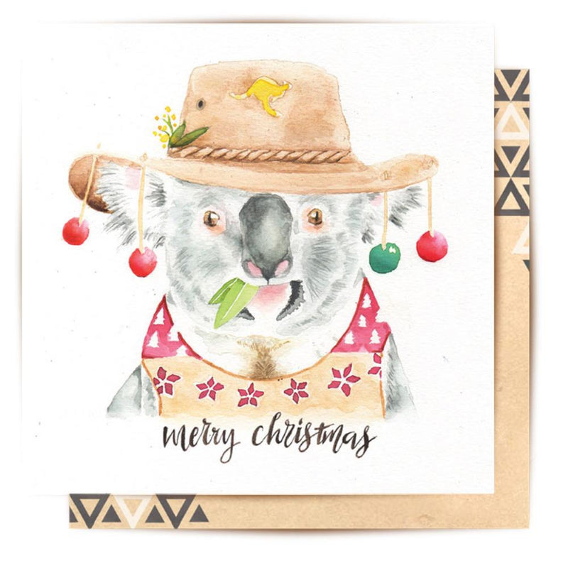 LALALAND- Greeting card-Merry Christmas Koala