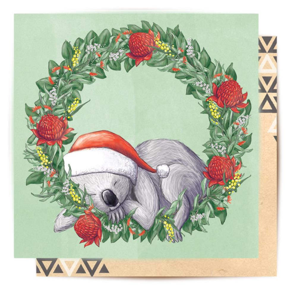 LALALAND- Greeting card-Christmas Koala Wreath