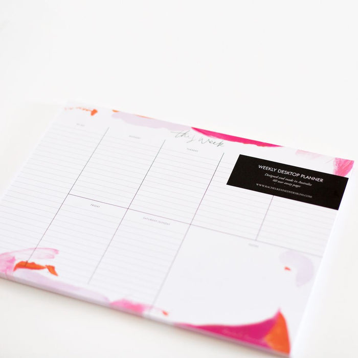 Rachel Kennedy Designs Weekly Desktop Planner