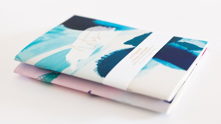 Rachel Kennedy Designs Note Notebook-Blue