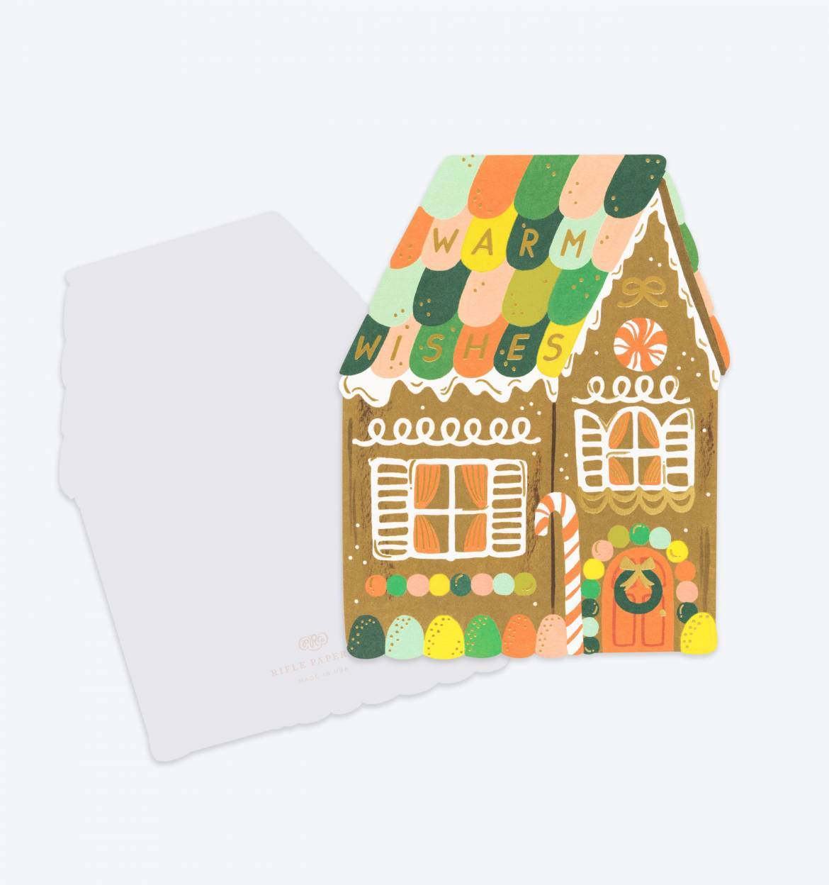 Rifle Paper Co - Single  Card - Gingerbread House