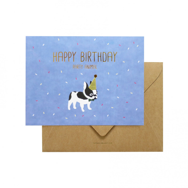 THE PAPER BUNNY-Happy Birthday Party Animal Card + Envelope