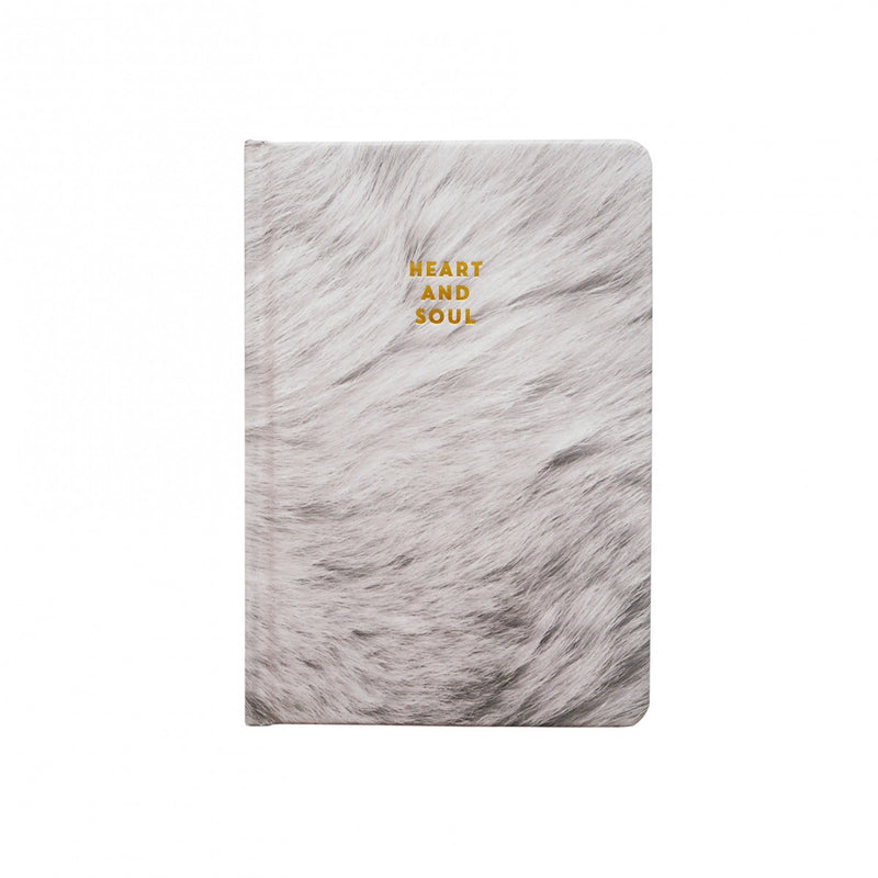 Do it with passion or not at all.Grey fur and gold foil - there's n...