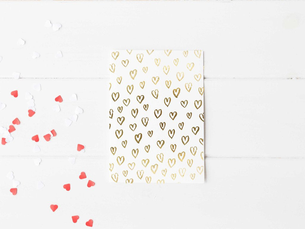 PENNEDBLACK Greeting Card - Hearts
