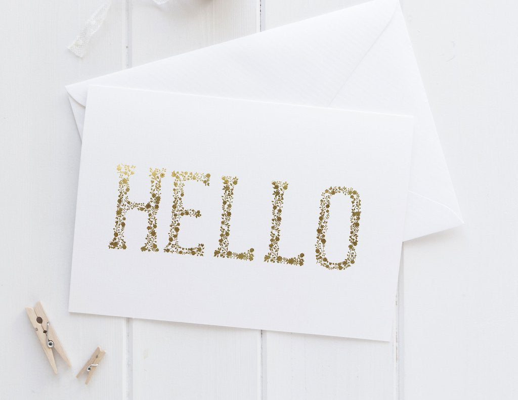 PENNEDBLACK Greeting Card - Hello