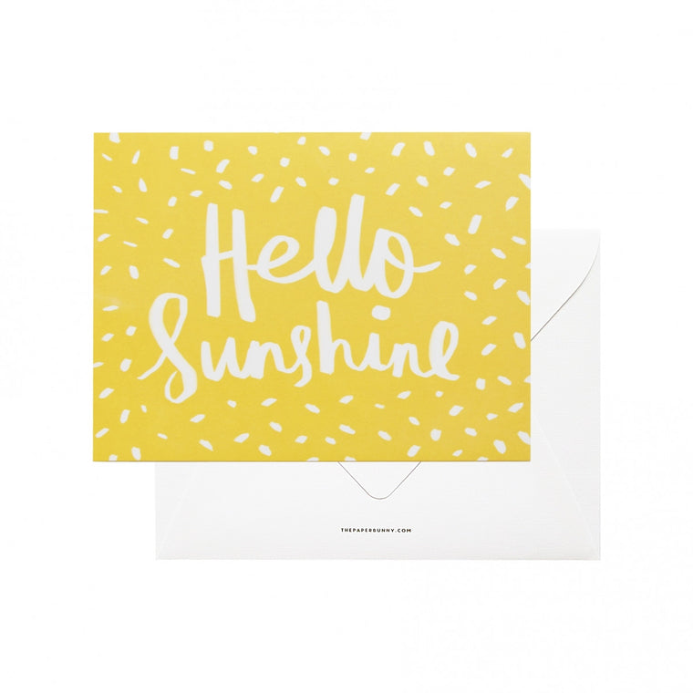 THE PAPER BUNNY-Hello Sunshine Card + Envelope