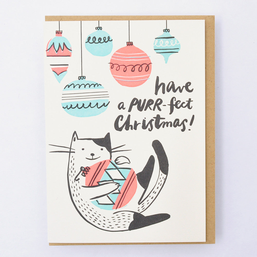 HELLO LUCKY Purr-fect Christmas card