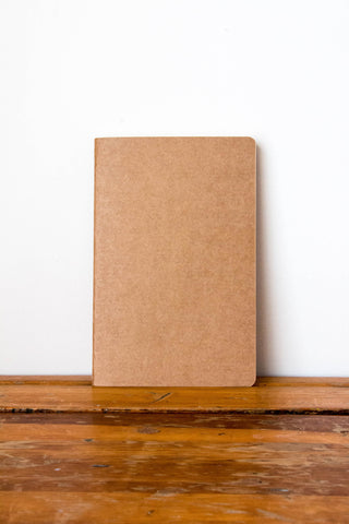 FRANK Stationery A4 Kraft Notebook- BLANK
