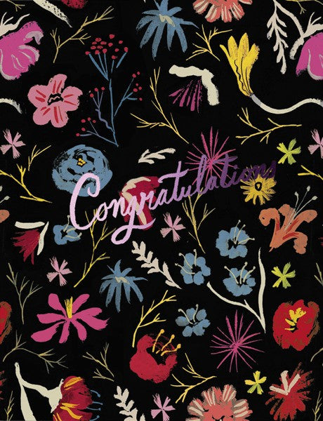 DANIELLE KROLL-FOIL-LOTS OF FLOWERS Card