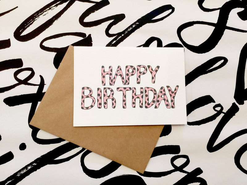 LITTLE PAPER LANE Greeting Card-Happy Birthday Chetah