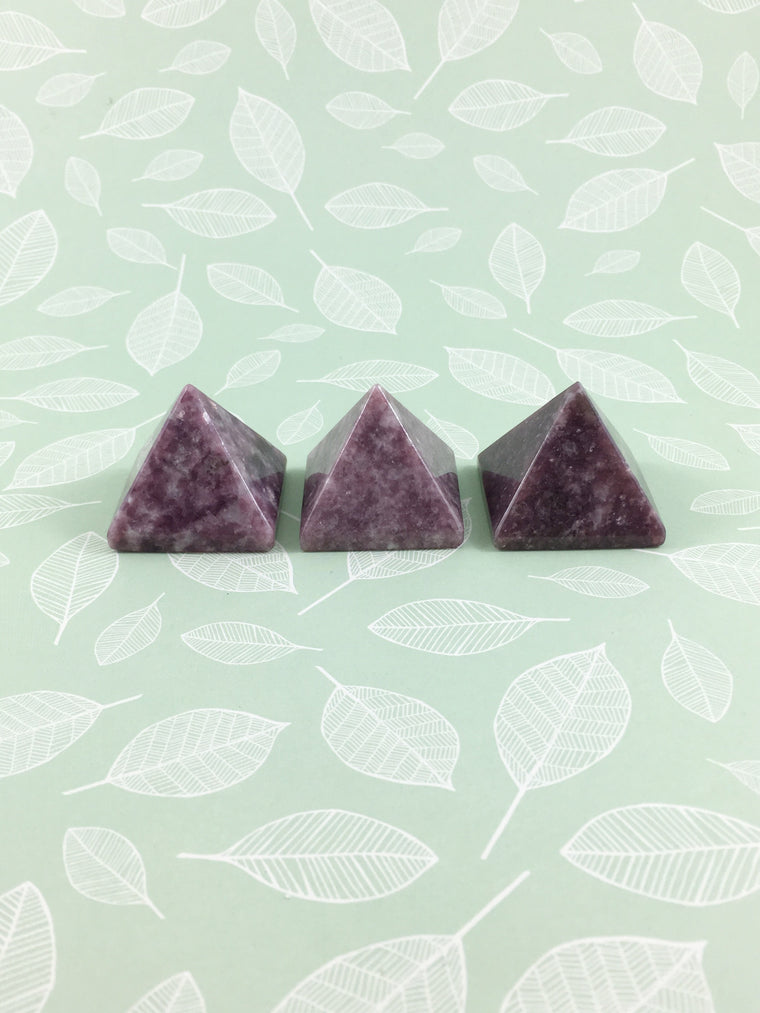 LITTLE PAPER LANE Crystals-Lepidolite Small Pyramid