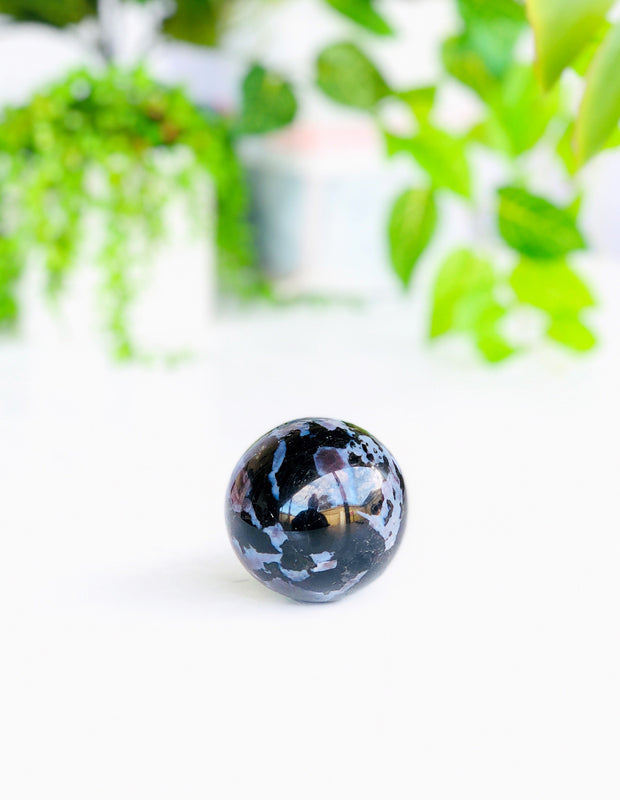 LITTLE PAPER LANE Crystals- Indigo Gabbro Sphere $55