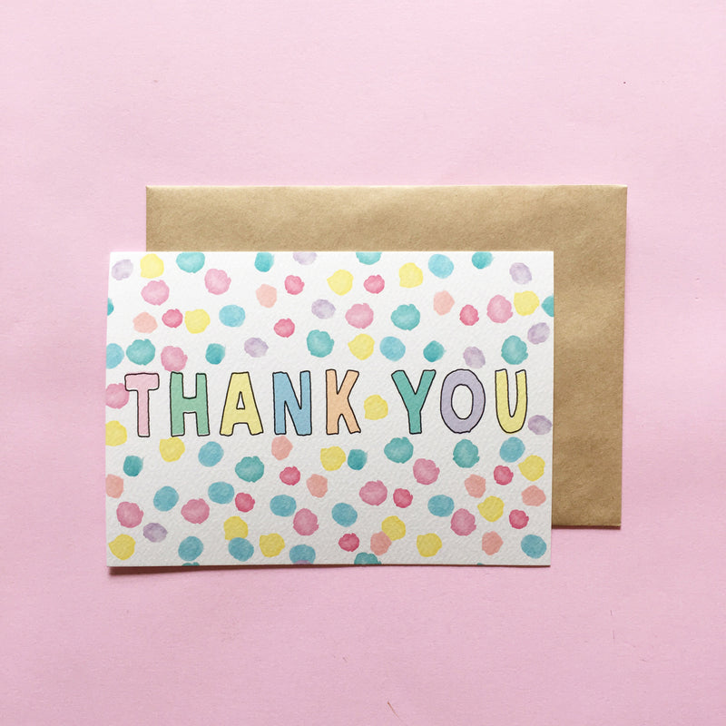 LITTLE PAPER LANE Notecard set - Thank You Confetti