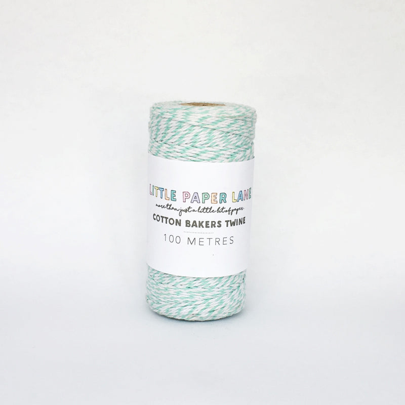 Little Paper Lane Cotton Blend Bakers Twine- Mint