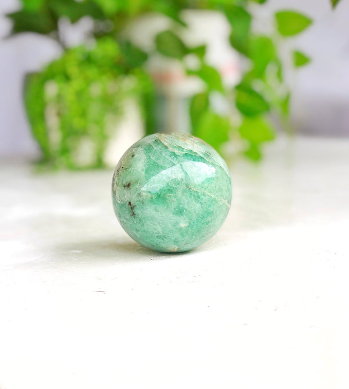 LITTLE PAPER LANE Crystals- Aventurine fuchsite Sphere $59