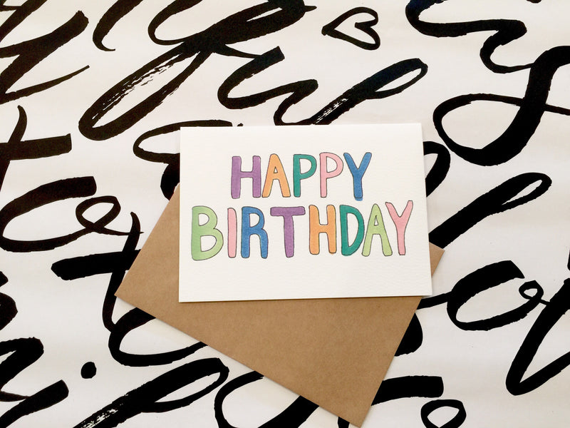 LITTLE PAPER LANE Greeting Card-Bright Birthday