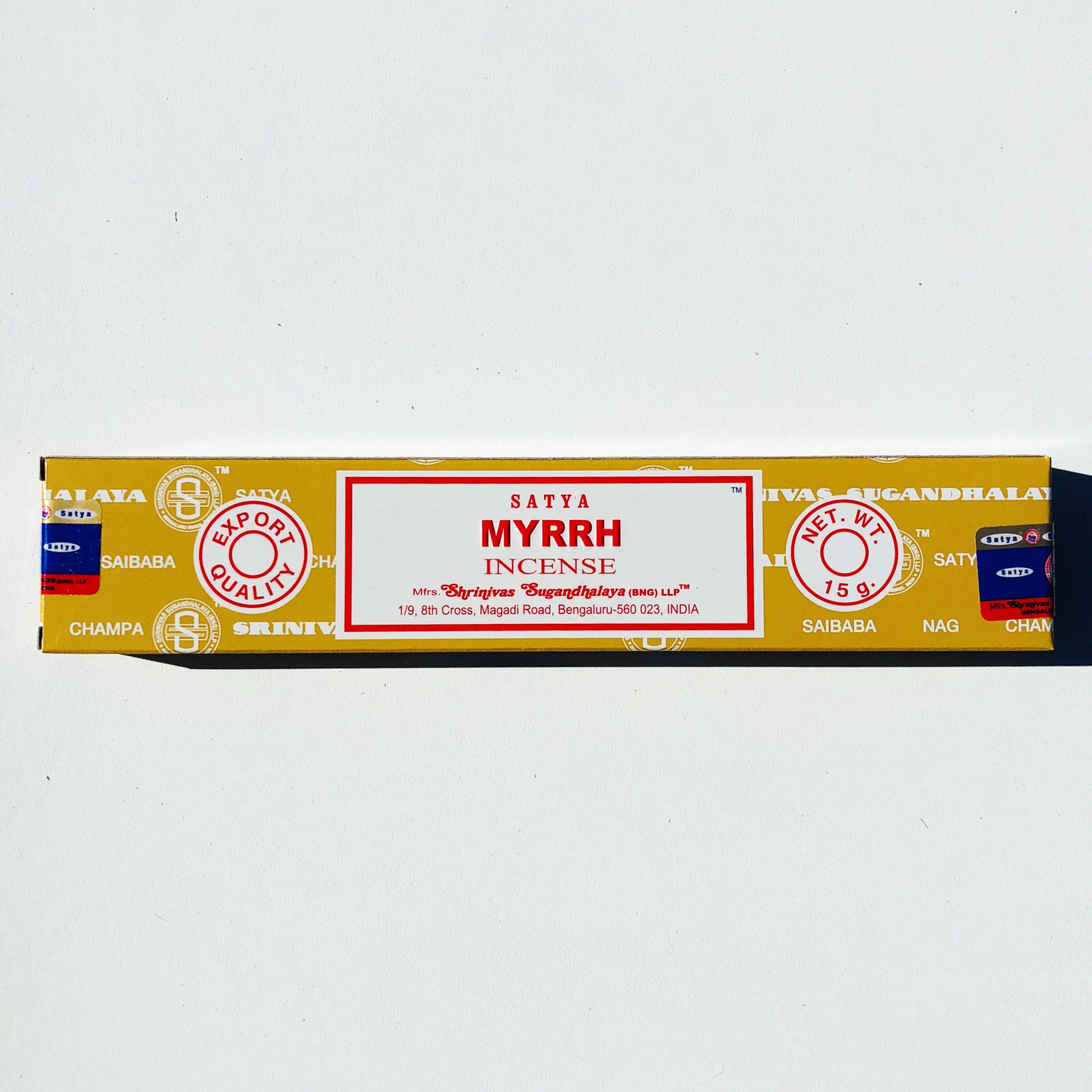 SATYA Incense-Myrth 15mg