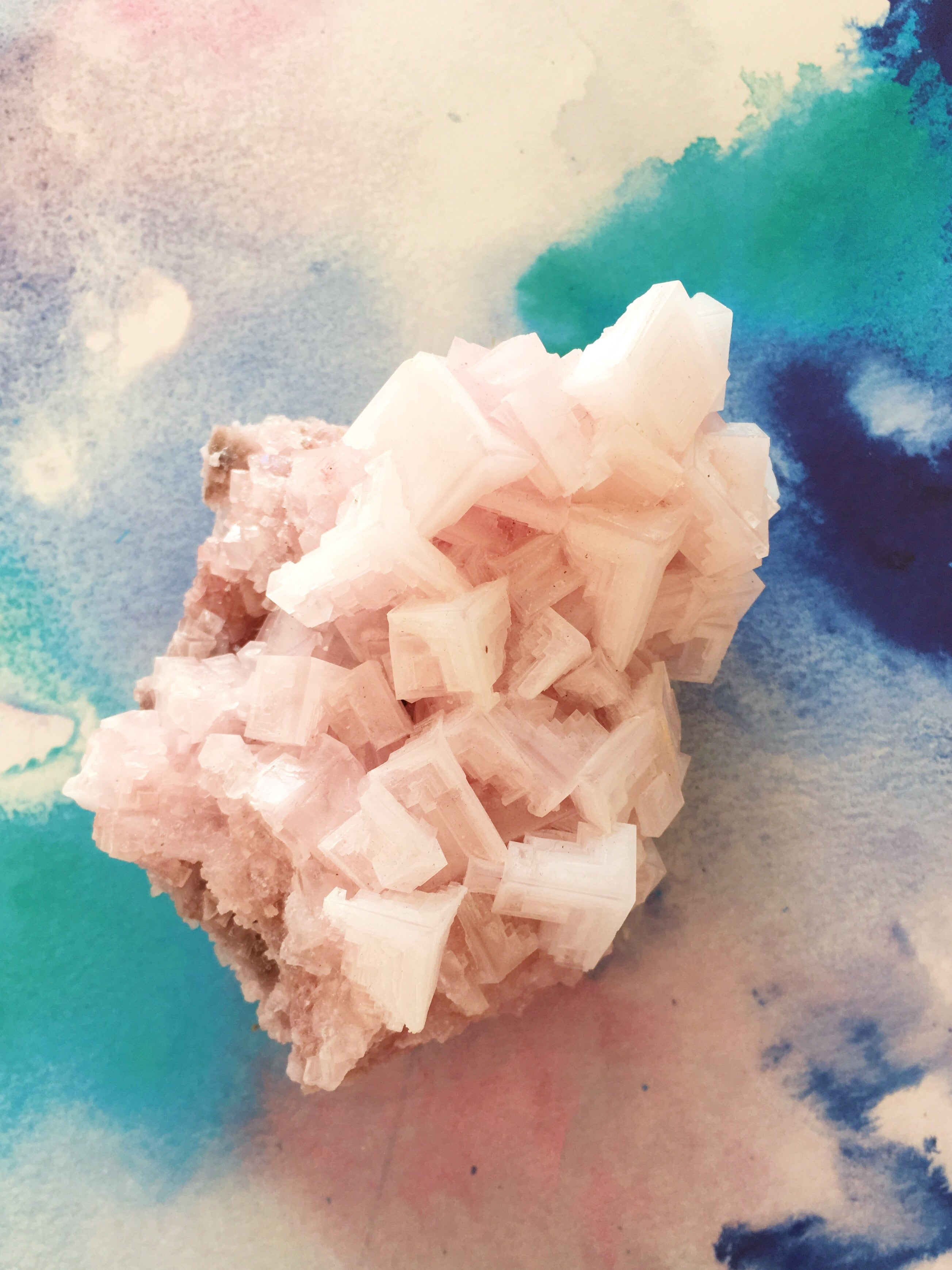 LITTLE PAPER LANE crystals- Pink Halite