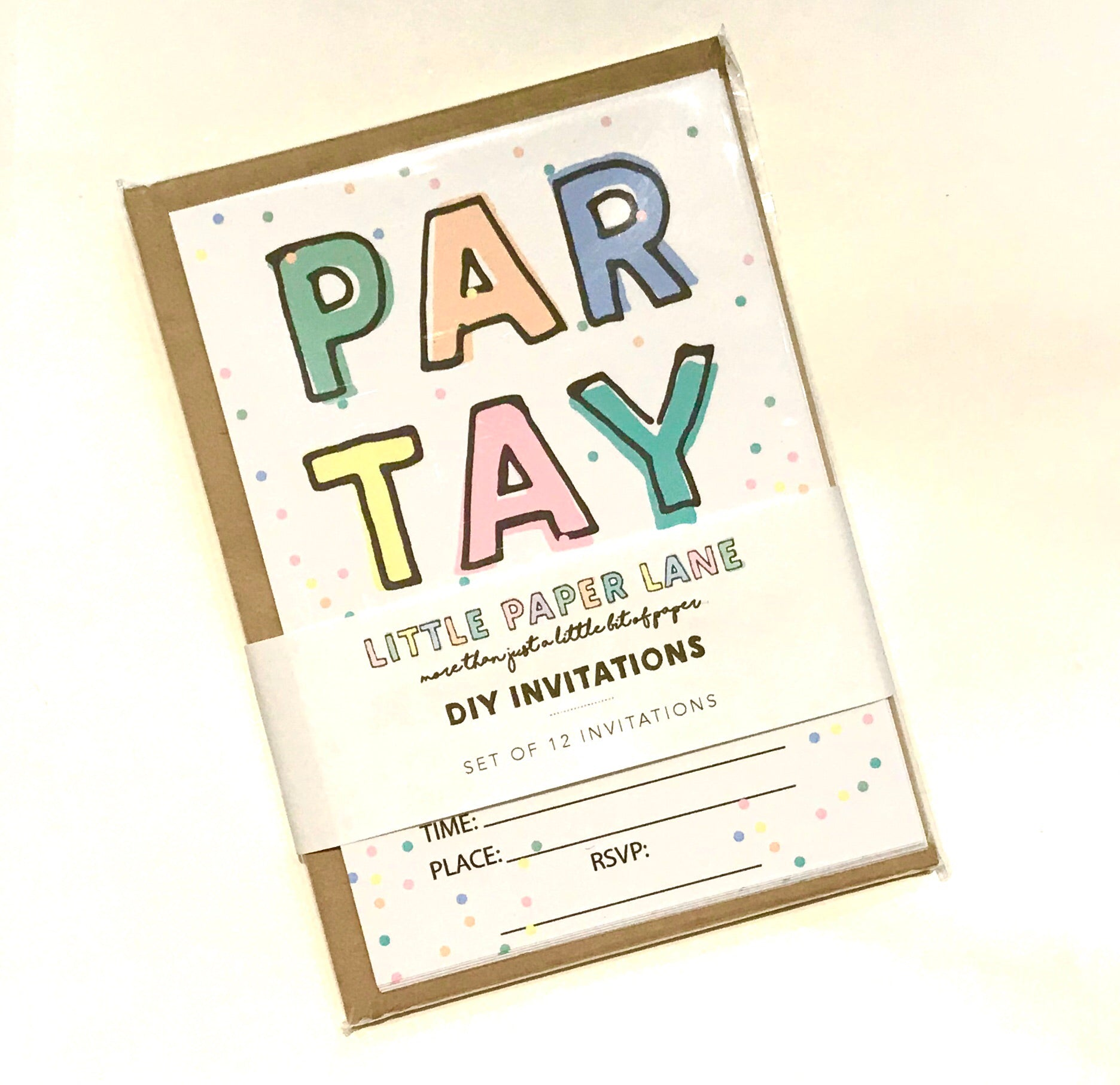 LITTLE PAPER LANE DIY Invitations- PAR TAY