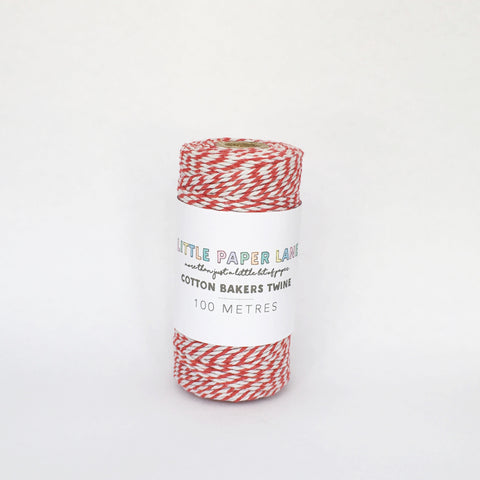 Little Paper Lane Cotton Blend Bakers Twine- Red