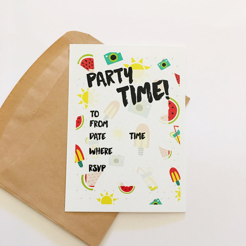 CANDELBARK Fruity Invitations
