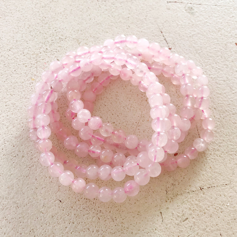 Rose quartz polished Bracelet $11.95