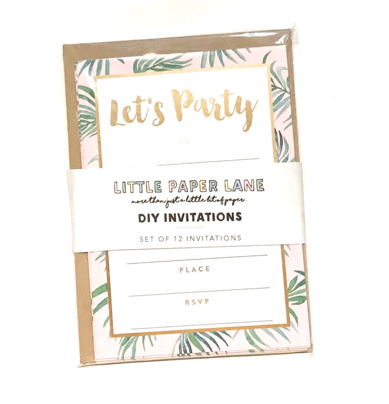 Little Paper Lane DIY Invitations- Palm Leaves
