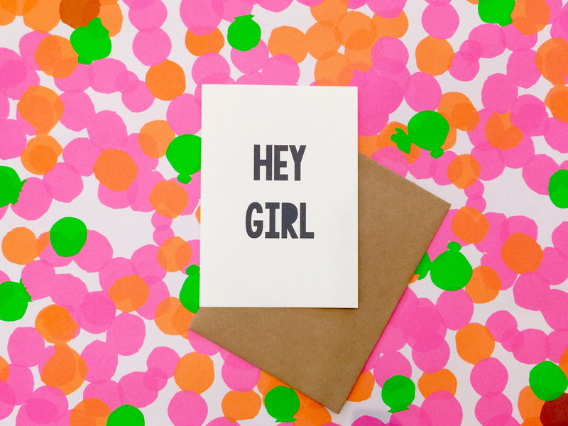 LITTLE PAPER LANE Greeting Card- Hey Girl