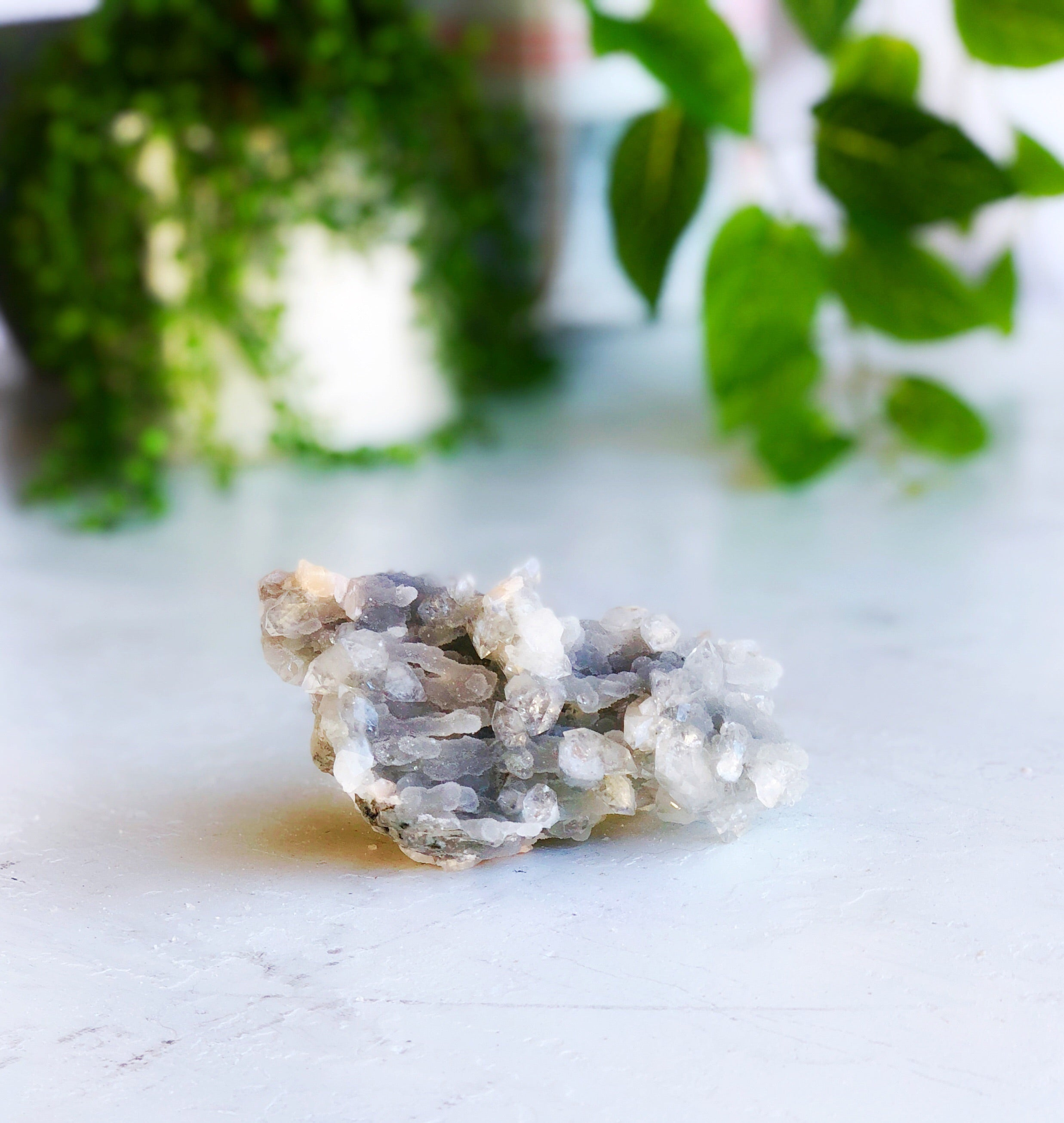 LITTLE PAPER LANE crystals- Blue Apophyllite cluster $66