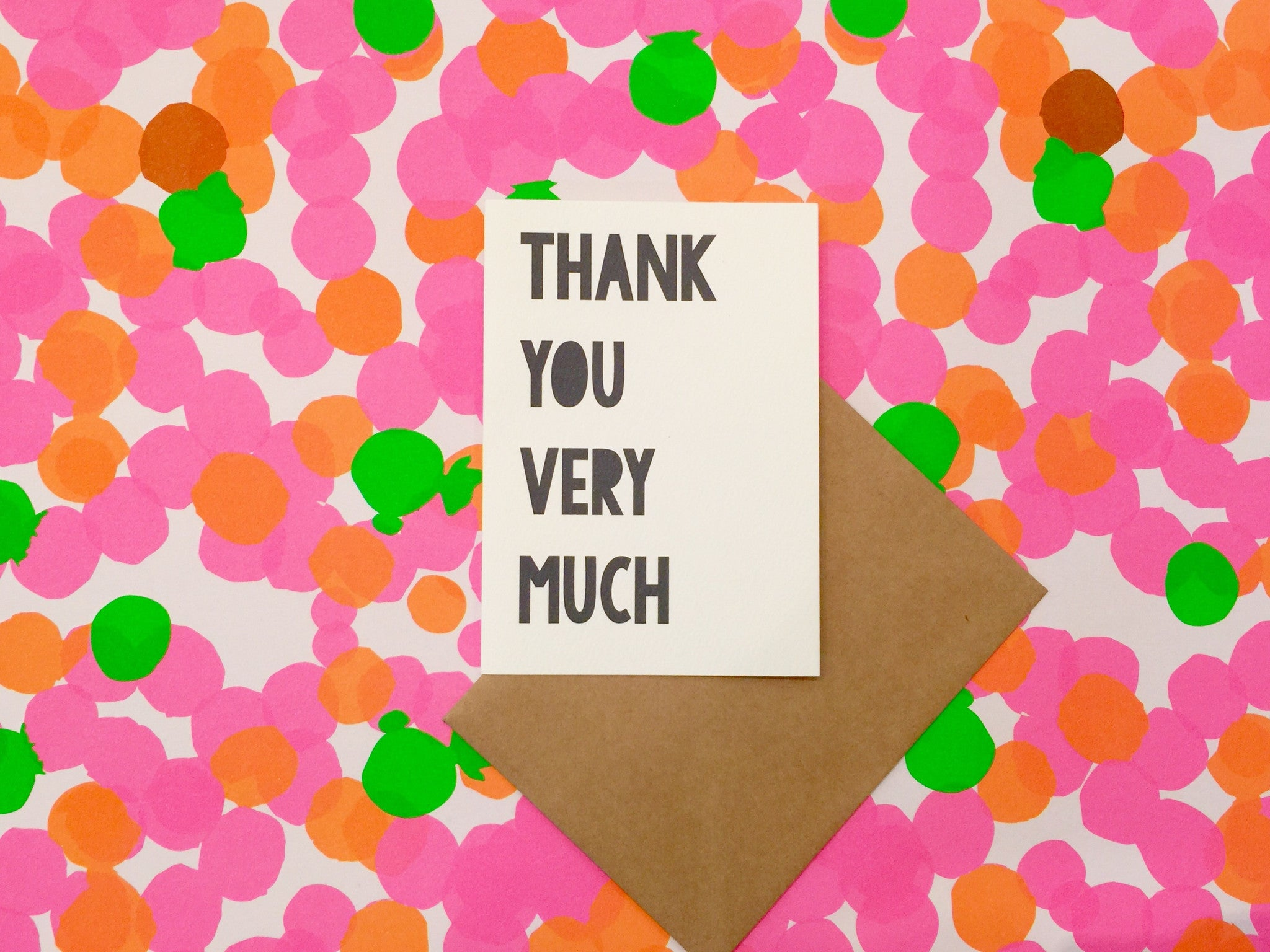LITTLE PAPER LANE Greeting Card Thank you Very Much