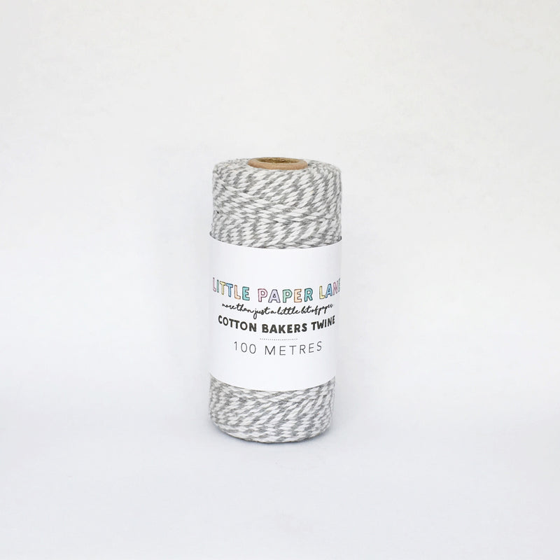 Little Paper Lane Cotton Blend Bakers Twine- Grey
