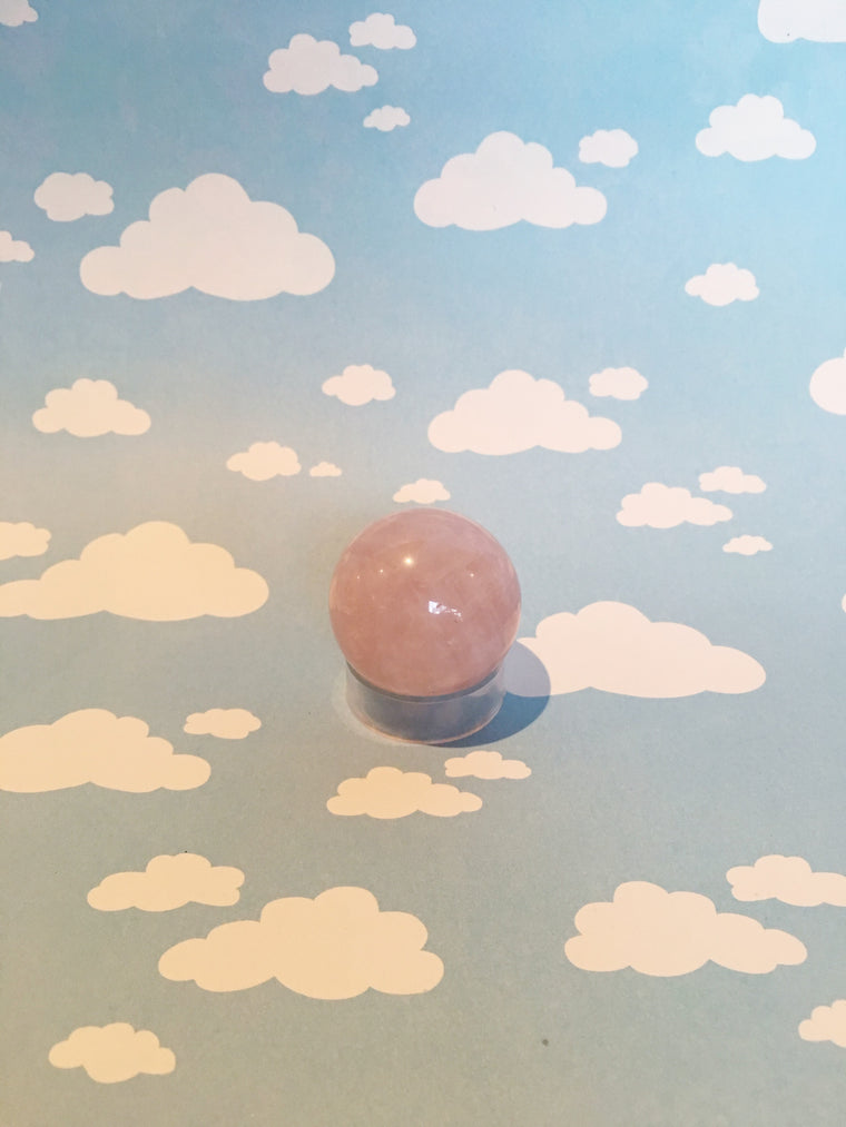 LITTLE PAPER LANE Crystals-Small Rose Quartz sphere