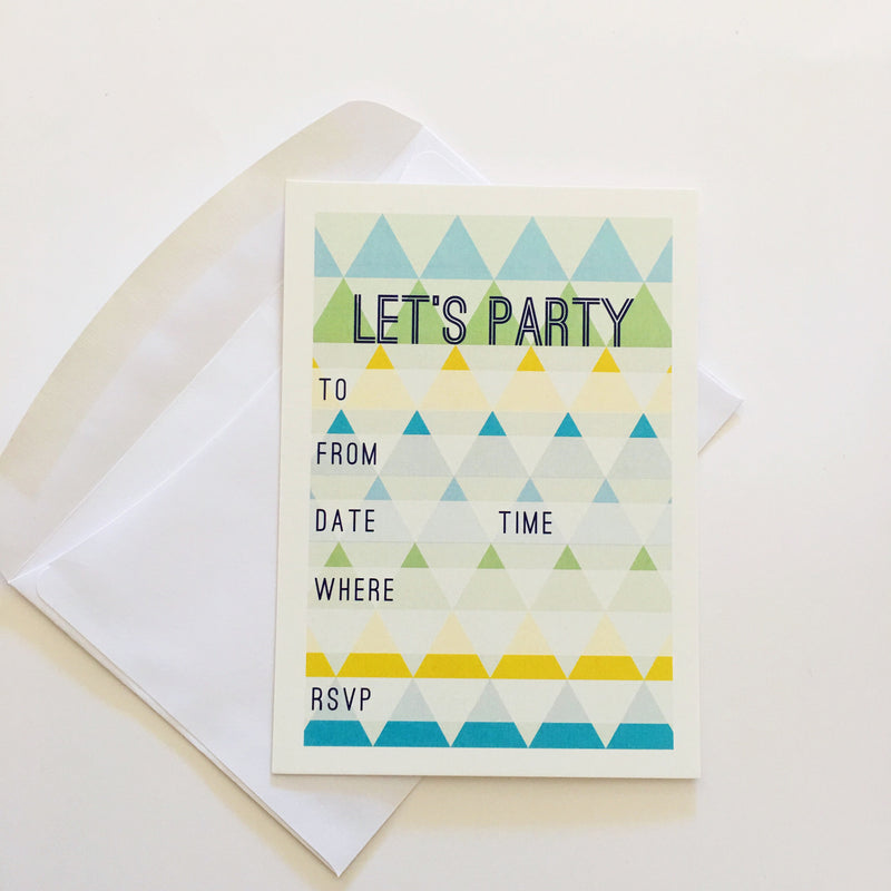 CANDELBARK Pyramid Invitations